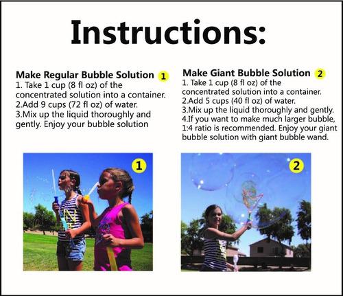 joyin - recambio de solución de burbujas concentradas de