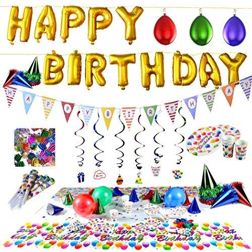 joyin toy happy birthday party supplies set (más de 100 pc)