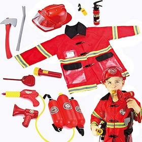 Joyin Toy Kids Fireman Disfraz De Bombero Juego De Imaginaci