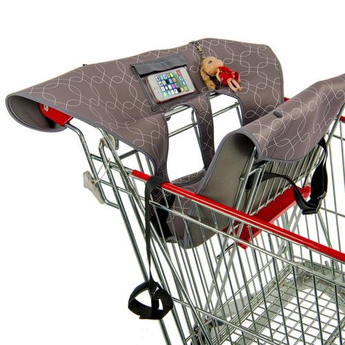 joylink 2-en-1 carrito de compras cubierta y silla alta c