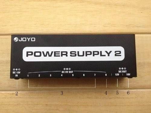 joyo jp-02 fuente de poder 10 salidas 9v, 12v y 18v.