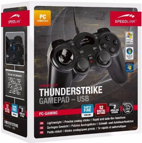 joypad speedlink thunderstrike sl-6515-bk + nfe