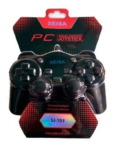joystick analógico usb para pc con vibración dualshock once
