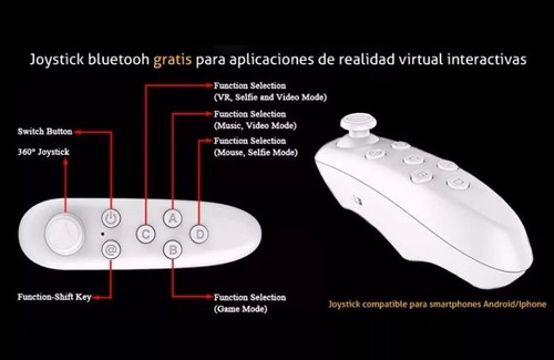 joystick bluetooth anteojo lente virtual vr box 360 inalambr