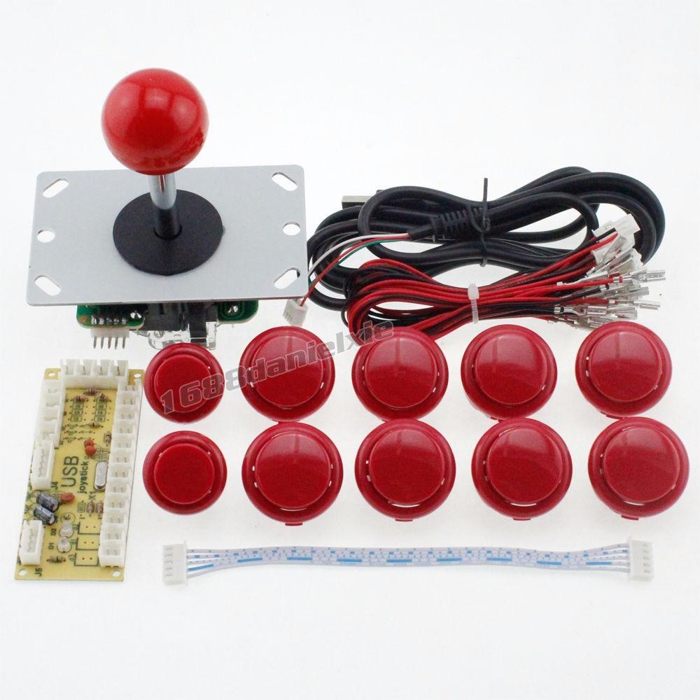 Joystick Genrico Sanwa Placa Zero Delay 10 Botes Verme R Wiring Diagram Carregando Zoom