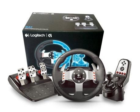 joystick logitech g27 racing wheel volante evolu o do g25 r em mercado livre. Black Bedroom Furniture Sets. Home Design Ideas