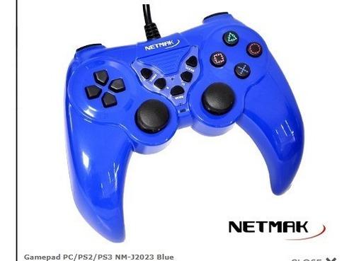 joystick netmak para pc ps2 ps3 usb cable turbo j2023