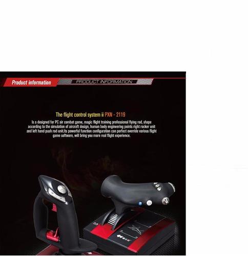 joystick para jogos de computador, simulador de vôo.