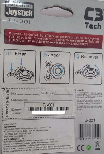 joystick para tablet sem fios ou baterias tj-001 c3 tech