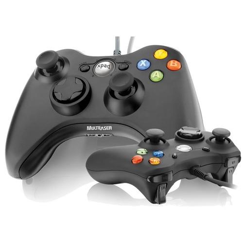 joystick pc usb x-pad 12 botões multilaser controle js046
