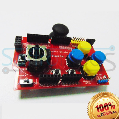 joystick shield control arduino gamepad garantizado