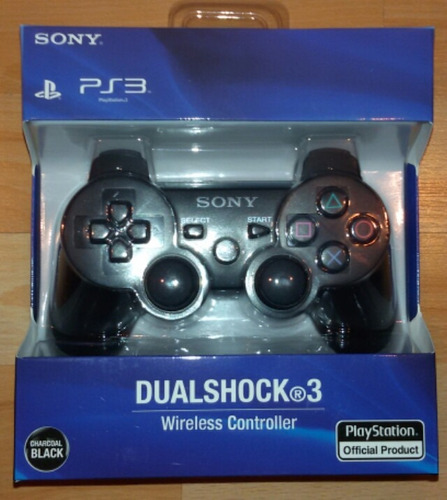 joystick sony dualshock 3 color negro en caja!!!!