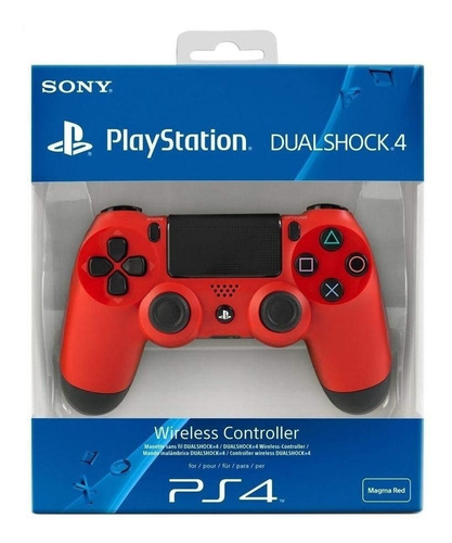 joystick sony ps4 dualshock 4 tactil magma red 2422