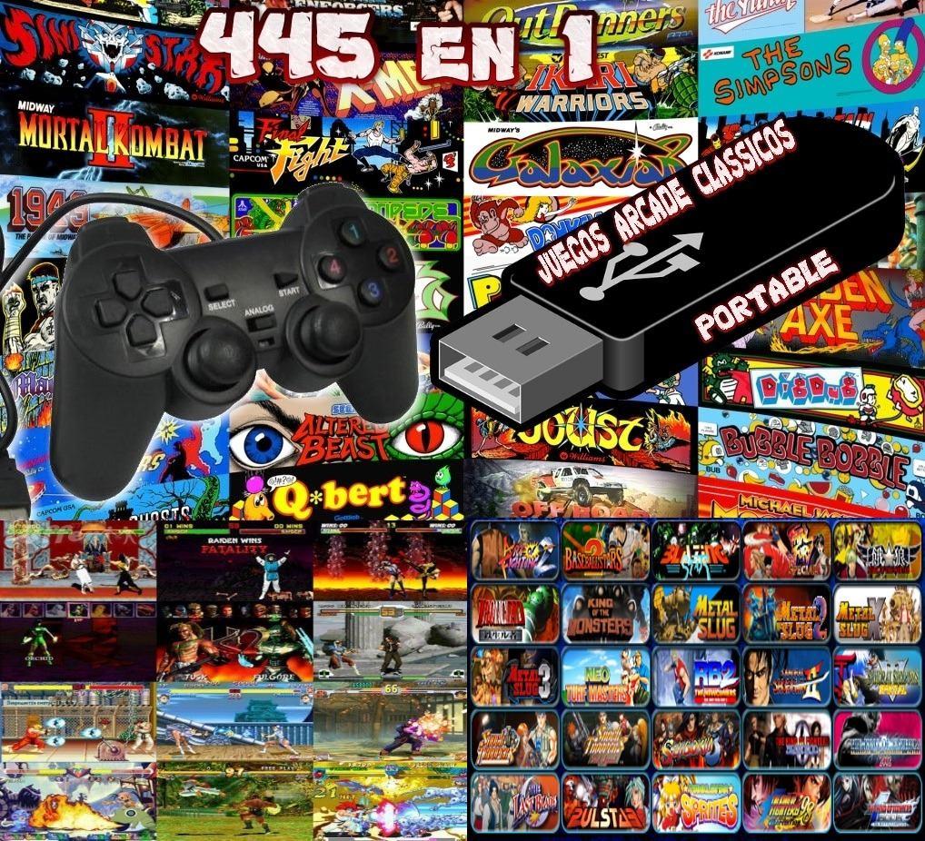 Joystick Usb Pendrive 445 Juegos Arcade Clasicos 29 990 En