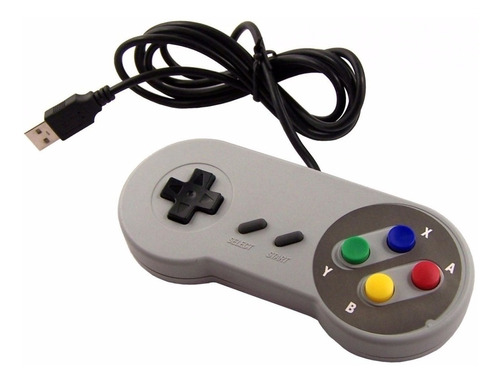 joystick usb retro tipo super nes para raspberry pc o mac