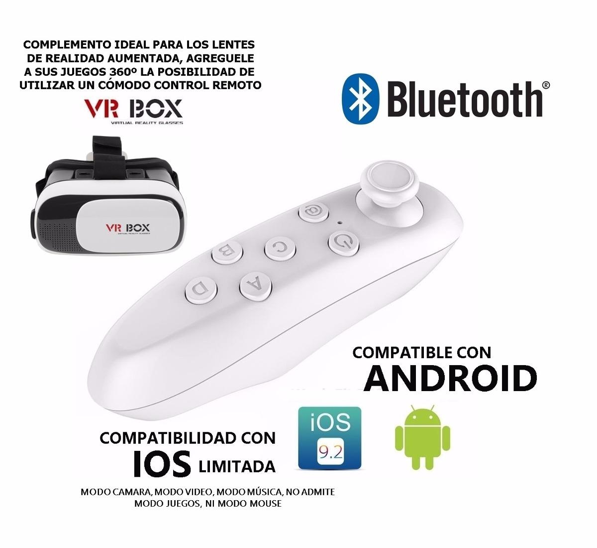 Joystick Vr Box Gamepad Bluetooth Control Remoto Rosario 400 00