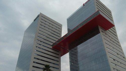 jp oficina comercial en renta en edificio inteligente piso 14 volado rojo