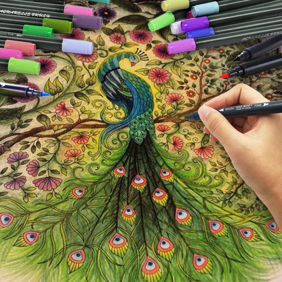 Famoso Diseños Con La Pluma Del Arte Del Uña Patrón - Ideas Para ...