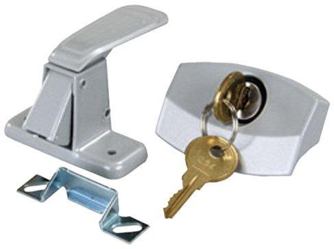 jr products 10805 cerrojo de puerta color plata para camper