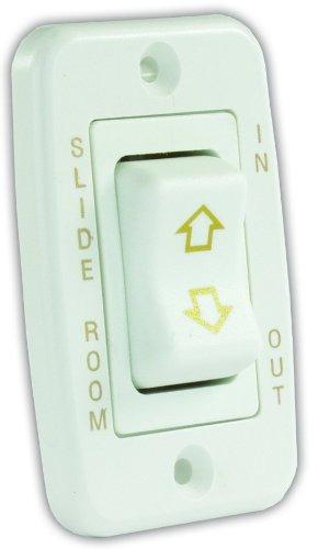 jr products 12345 interruptor deslizante de perfil bajo blan