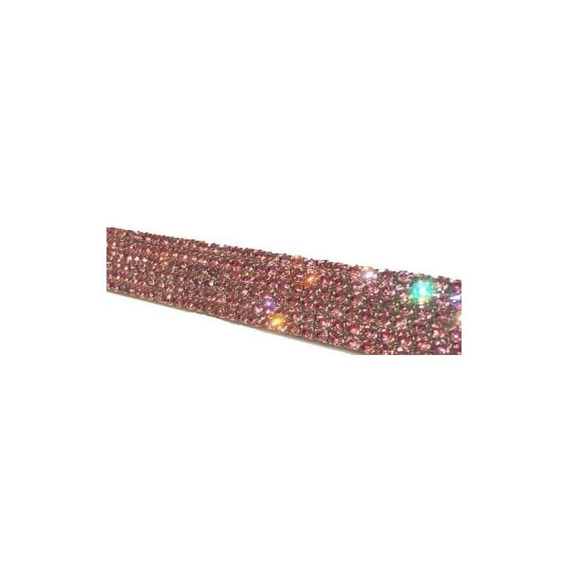 Bonito Diamantes De Imitación De Color Rosa Marco De La Matrícula ...
