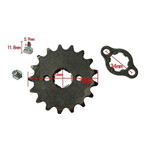 jrl 420 17t 20mm drive front counter sprocket fit para atv p