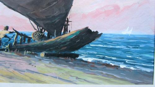 j.r.pinto - jangada à beira-mar