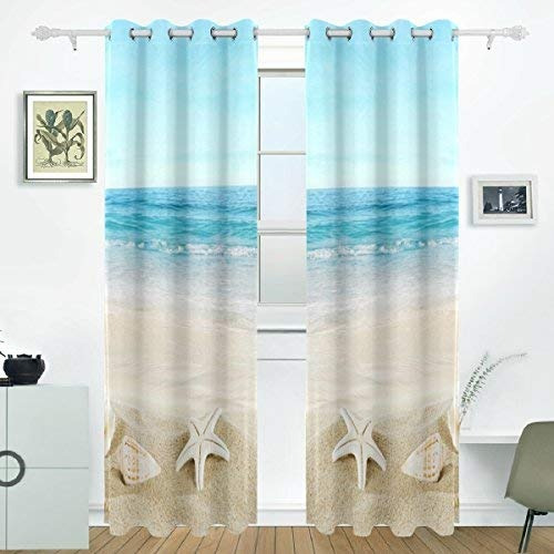 Cortinas Tropicales.Jstel Beach Sand Shell Cortinas Tropicales Cortinas 144 990