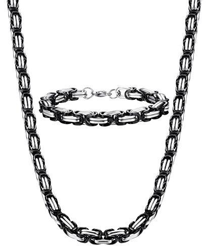 73508905abda Jstyle 8 Mm Collar De Acero Inoxidable Para Hombre Pulsera S ...
