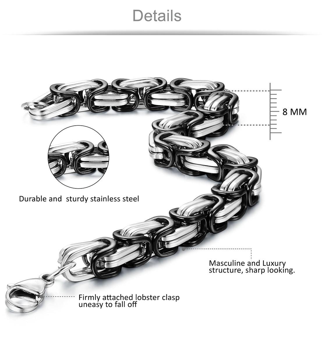 a8bd2bfc536c jstyle 8 mm collar de acero inoxidable para hombre pulsera s. Cargando zoom.