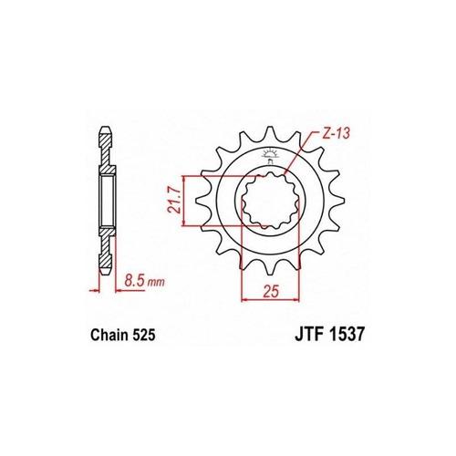 jt piñones jtf1537.17 17t piñón delantero de acero