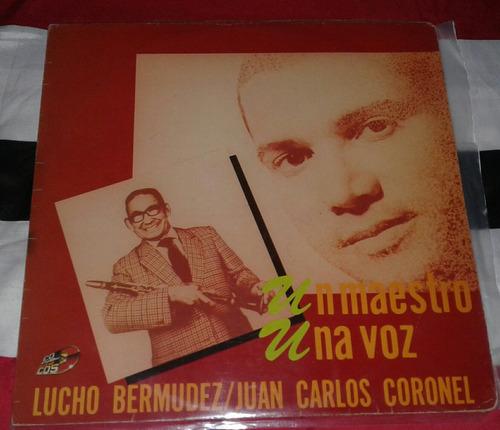 juan carlos coronel lucho bermudez/ porro cumbia/ lp vinilo