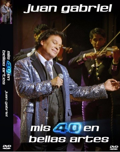 juan gabriel 40 bellas artes 1 dvd + 2 cds