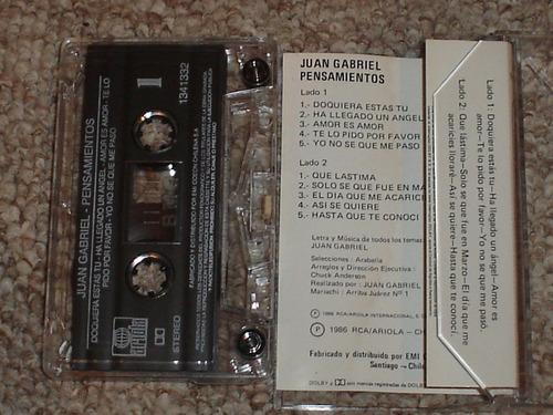 juan gabriel. cassette. pensamientos.1986. nuevo. solo chile