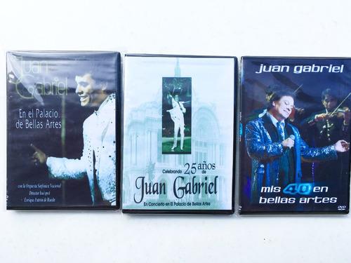 juan gabriel coleccion en bellas artes cd's + dvd's