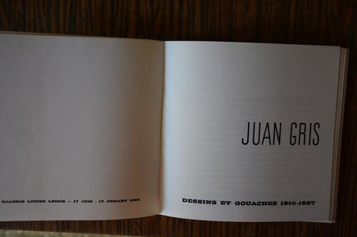 juan gris, catálogo de exposición..