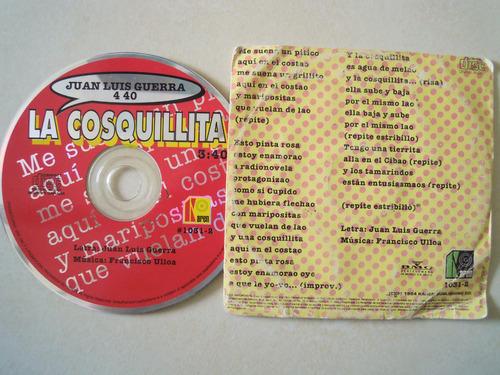 juan luis guerra 4.40 cd single la cosquillita