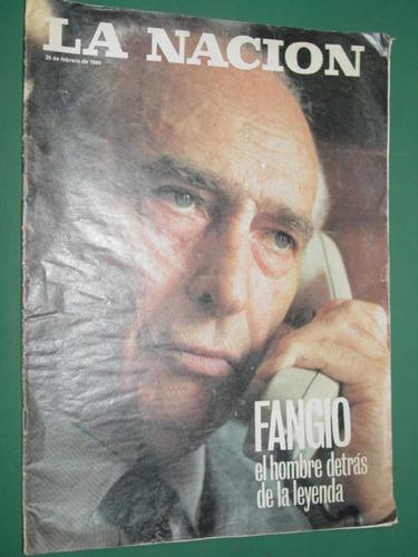 juan manuel fangio revista la nacion 26/2/89 nota 5 pgs