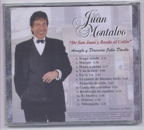 juan montalvo - de san juan y boedo al colon cds. original