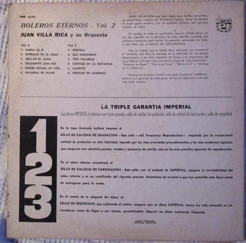 juan villa rica - boleros eternos vol. 2 (imperial imp30031)