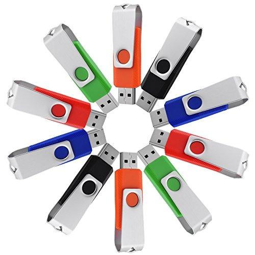juanw 10 pcs 4 gb usb 2.0 flash drive diseño giratorio thum