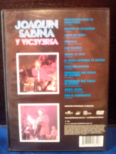 juaquin sabinas viceversa en vivo  cd original + regalo
