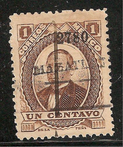 juarez, 1 ctv  papel grueso 1880  distrito 37 mazatlan vbf