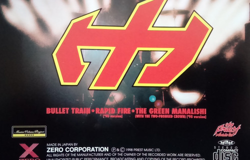 judas priest - bullet train - cd japonés like new