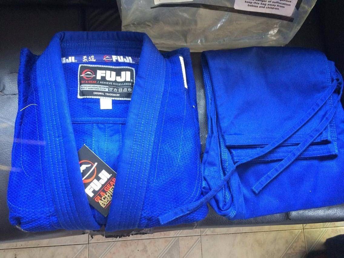 Judo Gi Fuji Deluxe Double Weave Talla 1color Azul
