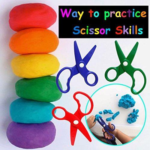 juega doh pretend juego scissors herramienta 3 piezas colore
