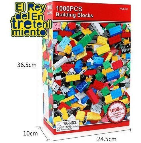 juego 1000 bloques ladrillos de encastre + regalo ! - el rey