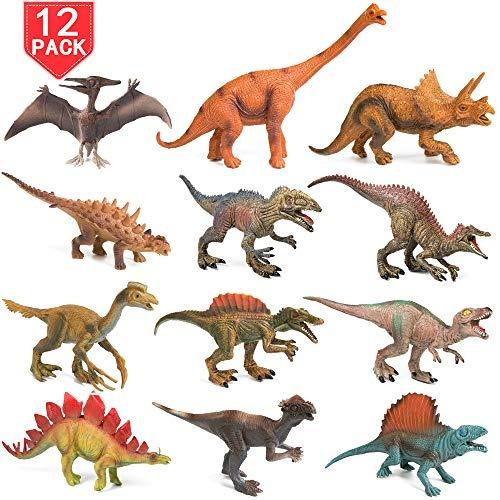 juego 12 pzas juguetes dinosaurio realista parque jurassic s