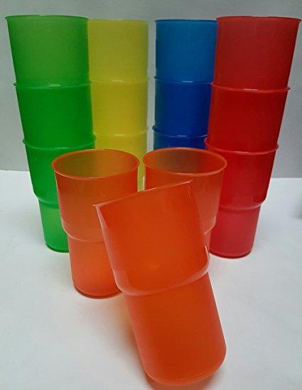 Juego 15 Vasos Multicolor Plastico Duro 30 4 Oz 900 Ml 240 00
