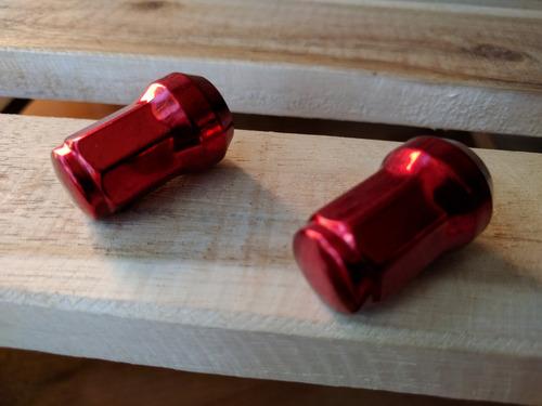 juego 16 tuercas llanta cromadas (1.5x12mm) tuning carro